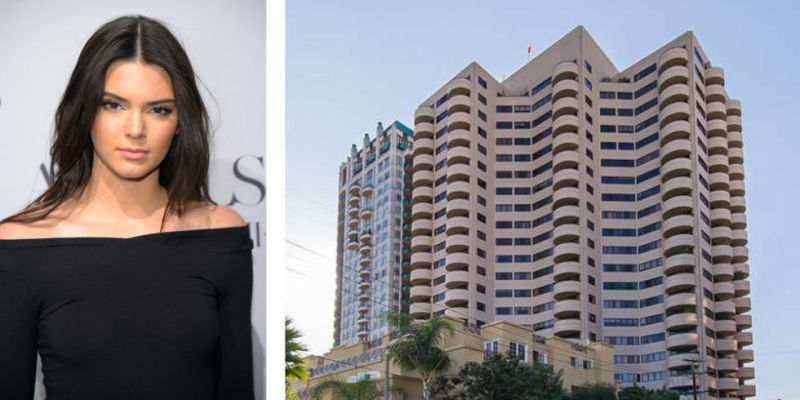 Model Kendall Jenner calls this California high-rise home.  It is located in Westwood, she bought this house when she was 18-years-old for $1.39 million. It has two bedrooms.