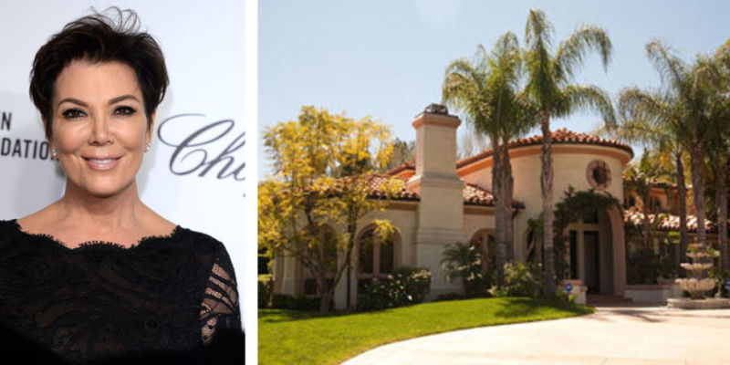 Kris Jenner lives in this Mediterranean style mansion...you may not recognise this house because the show uses a different property for the outside shots.