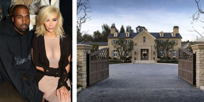 Kim and Kanye sold their mansion they were renovating to buy this $20 million estate in Hidden hills. Eight bedrooms, two pools, two spas and it's own vineyard.