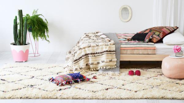 vintage moroccan berber shag rug - sage and clare