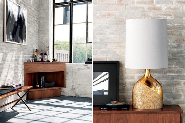 Left: The Topanga Corner Bar - $749US and Lola Table Lamp