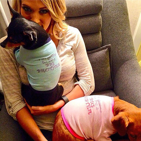 Carrie Underwood let the world know through these cute pics of her dogs - and their sweaters. HA!
