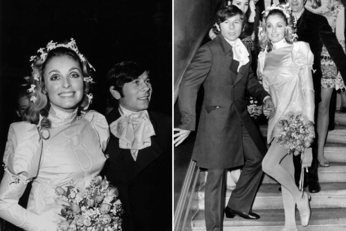 When Sharon Tate married director Roman Polanski in 1968, she was stunning in hippy, mini-dress loveliness