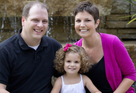 Heather, her husband Jeff and daughter Brianna