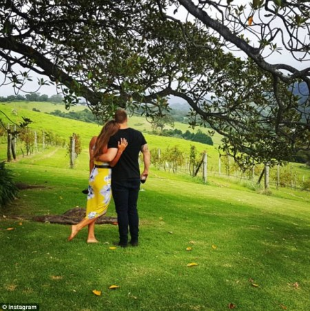 Sally Fitzgibbons and her NRL player fiance Trent  Merrin