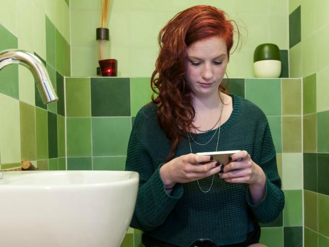 phone toilet
