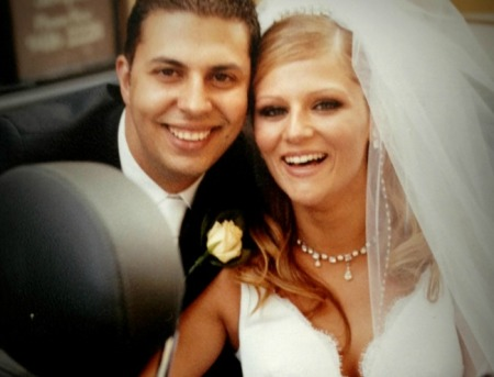 Our wedding day, March 2004