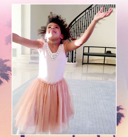 One happy (and lucky) little girl.  Image: Beyonce.com