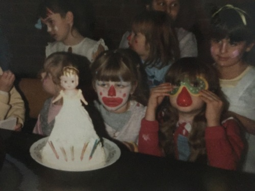 My fifth birthday. I was clearly unimpressed it wasn't like Blue's.