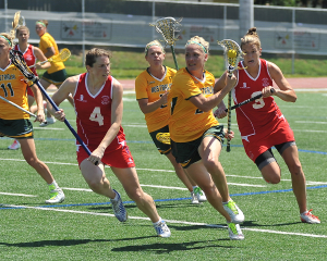 The 2013 FIL, Women's World Cup Lacrosse Tournament. Bronze Medal game, Australia vs. England.