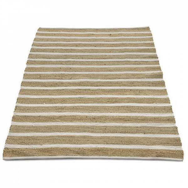 $49 Jute Rug White Stripe