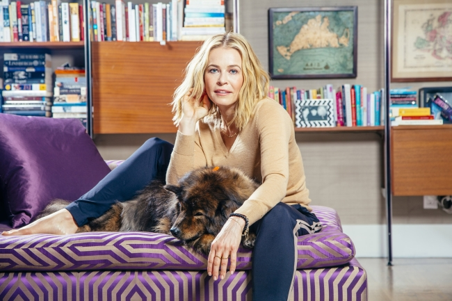 Chelsea Handler, the comedian and talk show host, and her dog Tammy, at home in Los Angeles.
