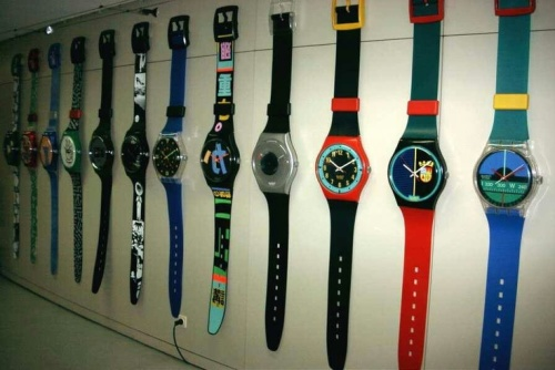 The Swatch Maxi. A watch...for your wall. Ugly but cool.