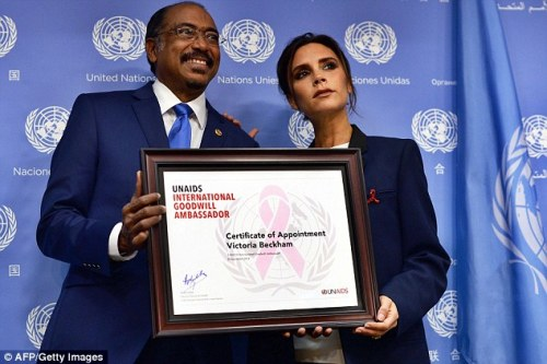 VB is proud of her work with the UN
