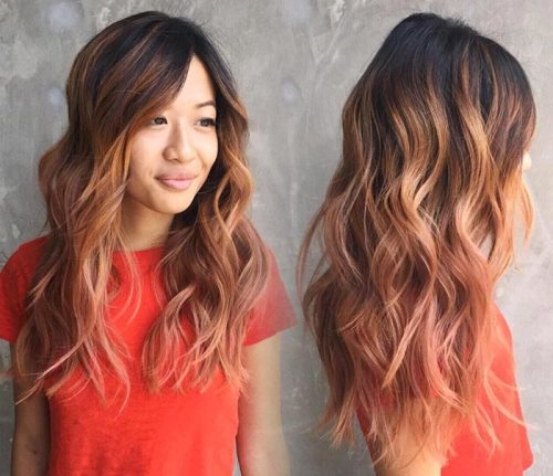 Gorgeous rose gold ombre Image: @bbjam