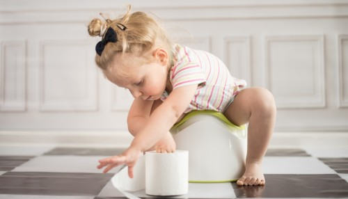 A kid on a potty is super cute; MOST of the time