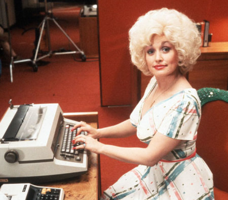 Dolly working hard from 9 to 5