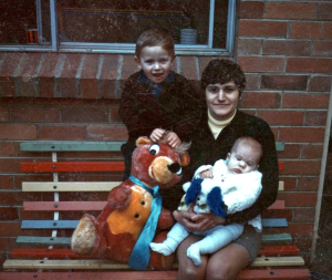 Maria James with her sons, Mark and Adam