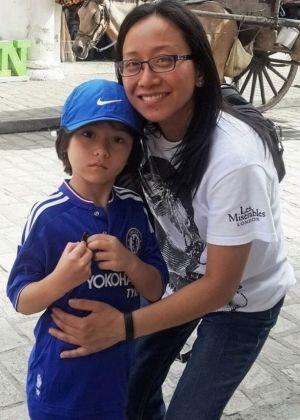 Julian and his mum, Jumarie