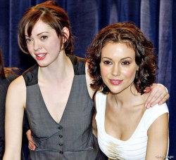 Actresses and activists: Rose McGowan and Alyssa Milano