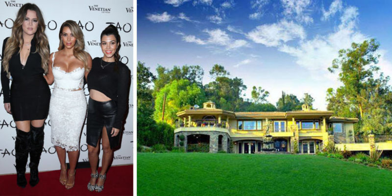 This is the 'Keeping Up With The Kardashina' house but not one Kardashian or Jenner has ever lived here. it is only used for the outside shots. It is now on sale for $6.25 million.