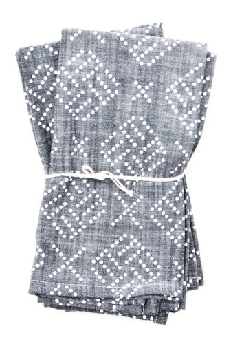 Geo dot chambray napkins $48.00 - leifshop.com