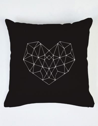 Geo heart cushion - By Hollie Martin - The Club of Odd Volumns - $48.00