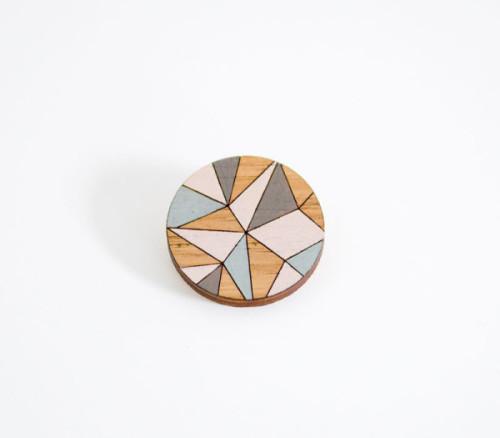 Kaleidoscope brooch - shelf/life -  $30.00