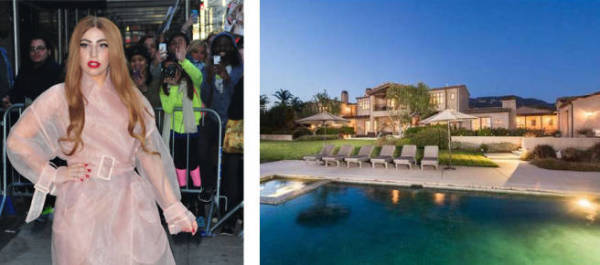 Lady Gag paid $23million for this five-bedroom place in Malibu. Yes! $23 million.