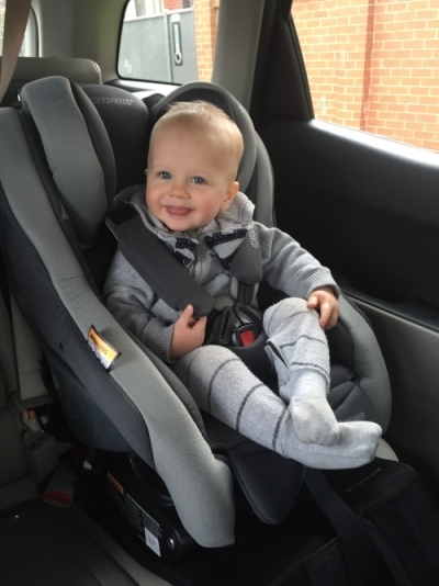 Arlo in the Euro NXT car seat