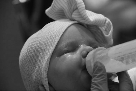 Bottle-feeding allows for baby and parents to connect.