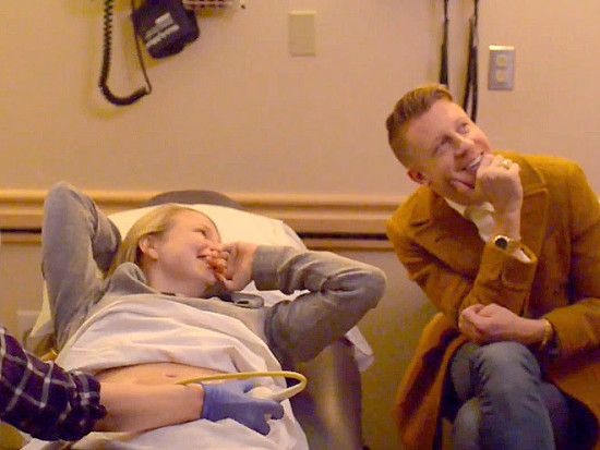 Macklemore posted this INCRED moment with his fiance Tricia Davis when they heard their babies heart beat for the first time.