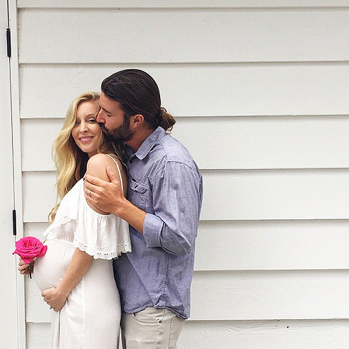 Leah and Brandon Jenner told the world they were expecting a girl with this cute pic. How adorbs.