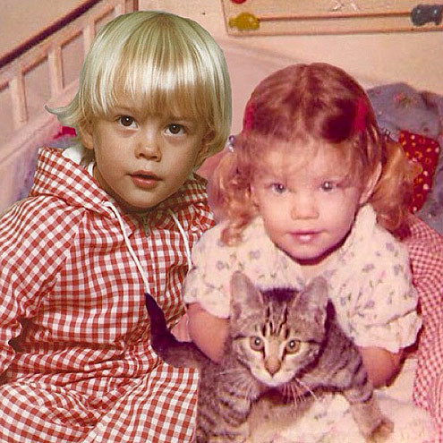 Josh Duhamel and Fergie photoshopped this CUTE pic of them both as kids to tell the world they were expecting.