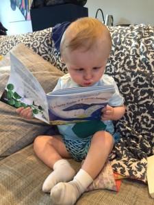 Italian reading baby.