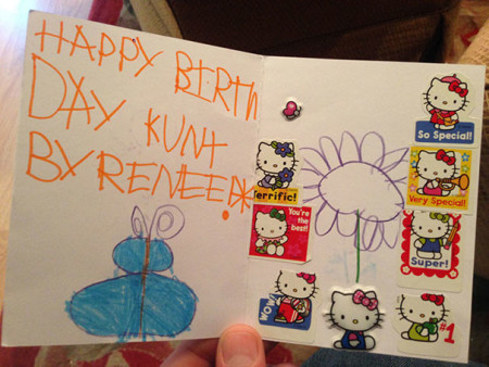 We hope Kurt keeps this card as a memento.