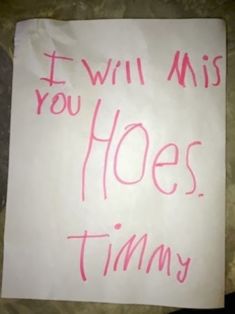 Timmy's totes gonna miss his house.