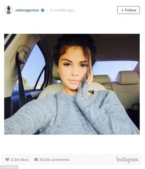 Number 7 - Selena Gomez in her fave sweatshirt.