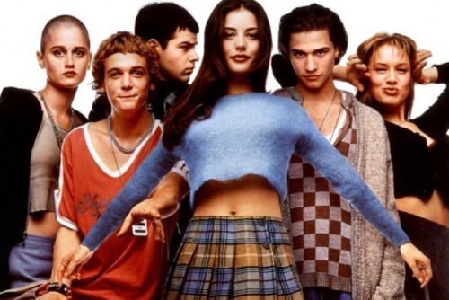 The cast of Empire Records (aka as BEST MOVIE EVS) THEN...