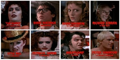 The Rocky Horror Show cast THEN...