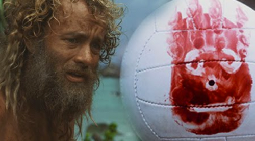 The cast of Cast Away THEN...