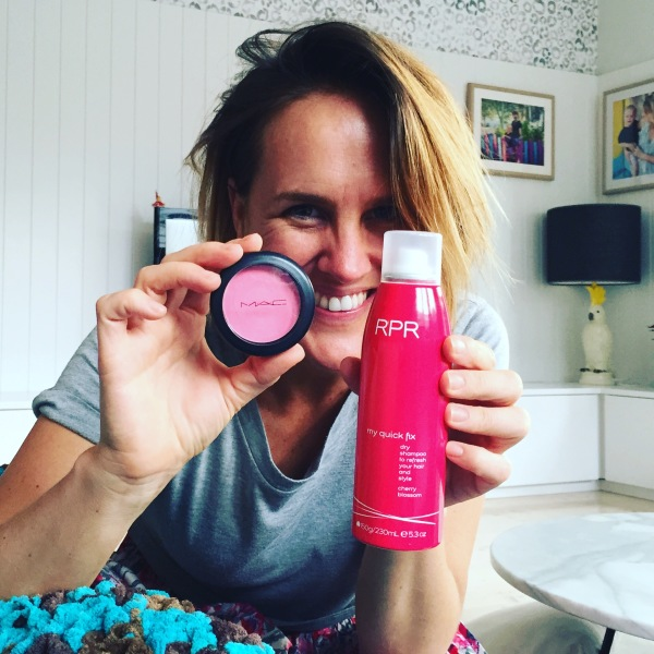 Monty currently uses Mac 'cremeblend blush' and RPR dry shampoo