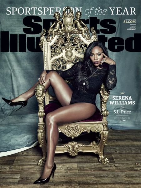 Serena Williams looking AMAZE on the cover of Sports Illustrated