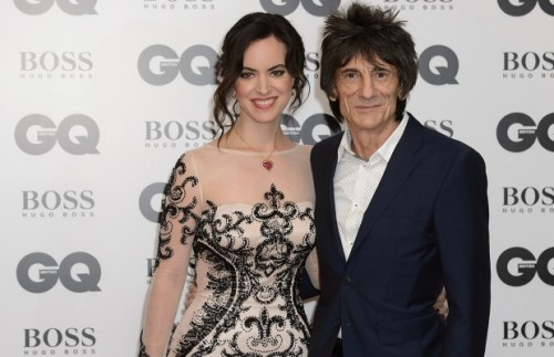 Rolling Stones guitarist Ronnie Wood and Sally Humphreys