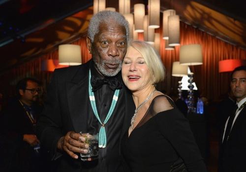 Morgan Freeman and Dame Helen Mirren