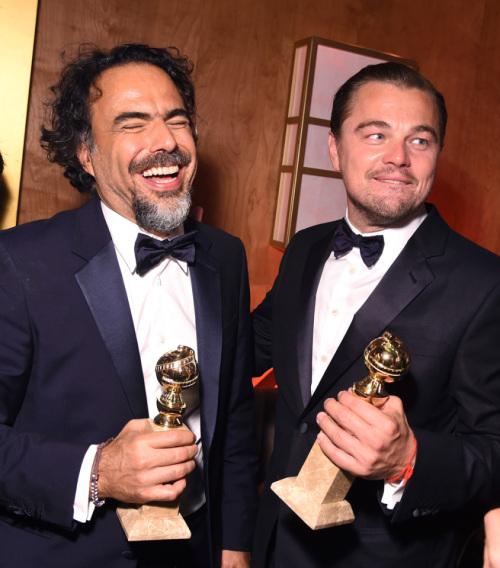 Alejandro G. Inarritu and Leonardo DiCaprio
