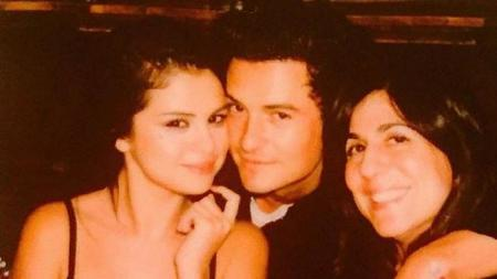 Selena and Orlando with her manager Aleen