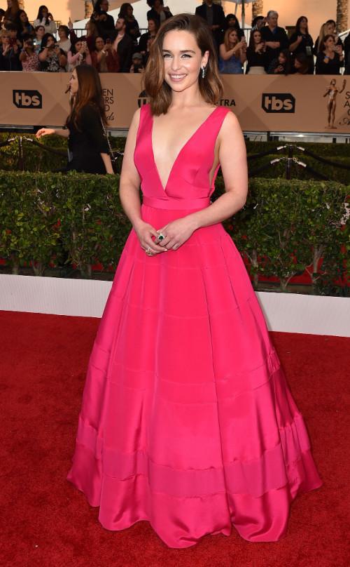 Emilia Clarke gorgeous in Dior
