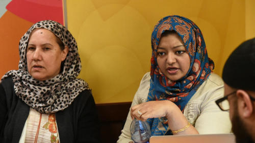 Adnan's mother Shamim Rahman and family friend and advocate, Rabia Chaudry