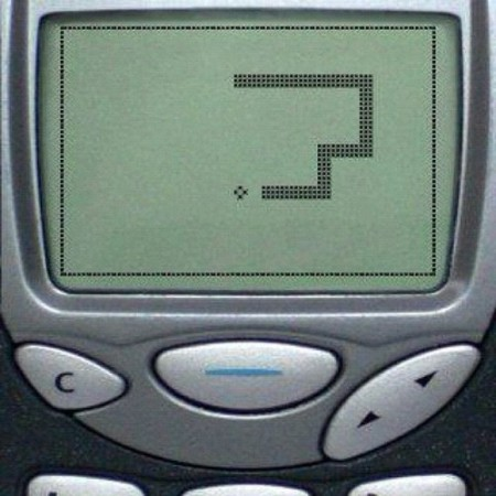 Snake was KING. On the Nokia 3210 of course